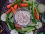 Mardi Gras Vegetable Dip for SOFA TAILGATING