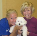 Sugar loves Janet her trainer and she loves the training treats.