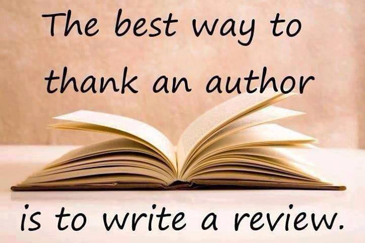 The Biggest Favor for an author is a review