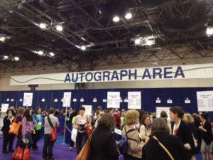 book expo of america autograph area
