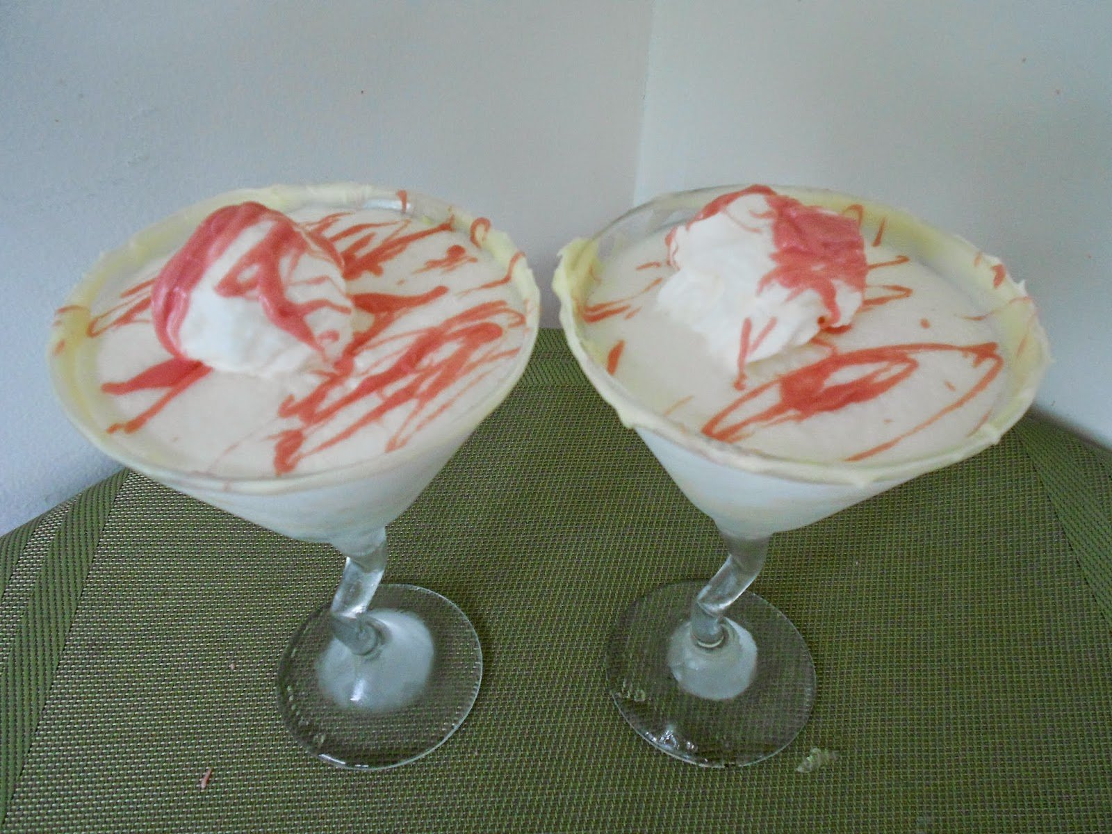 Snow Cream Martini with White Chocolate Rimmer on Mid-Week Mixers