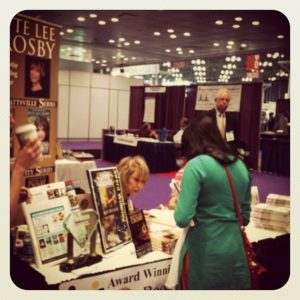 Bette signing a book at BEA