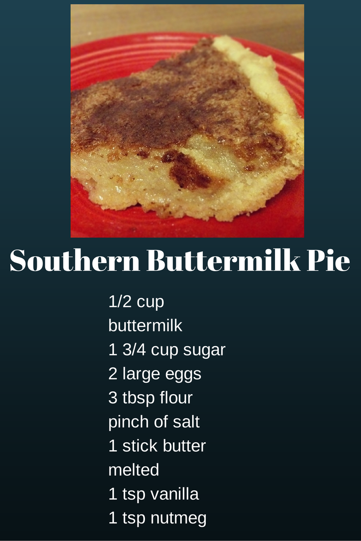 Southern Buttermilk Pie on Mid-Week Mixers
