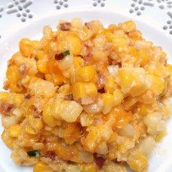 corn cheese bacon casserole