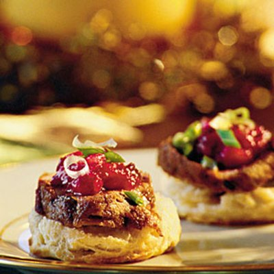 Pork Tenderloin on Cornmeal Biscuits – #southerncomfort