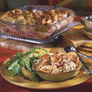 Chicken Cobbler Casserole- #southerncomfort