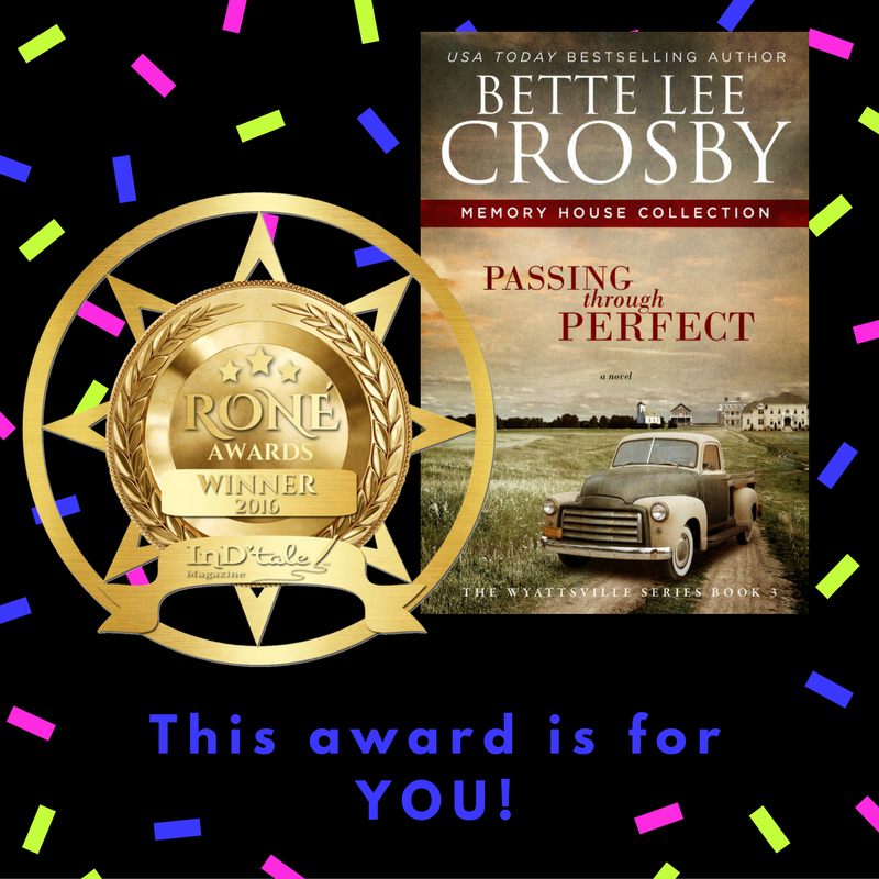 Passing through Perfect wins RONE award!