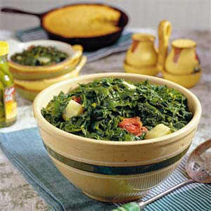 How to cook Turnip Greens with Turnip Roots