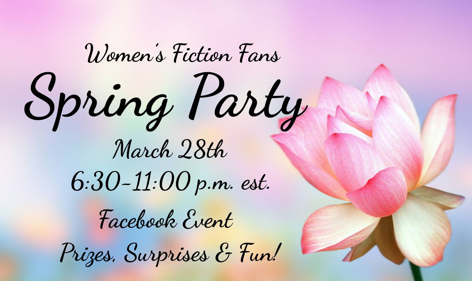 Spring Facebook Party coming March 28th