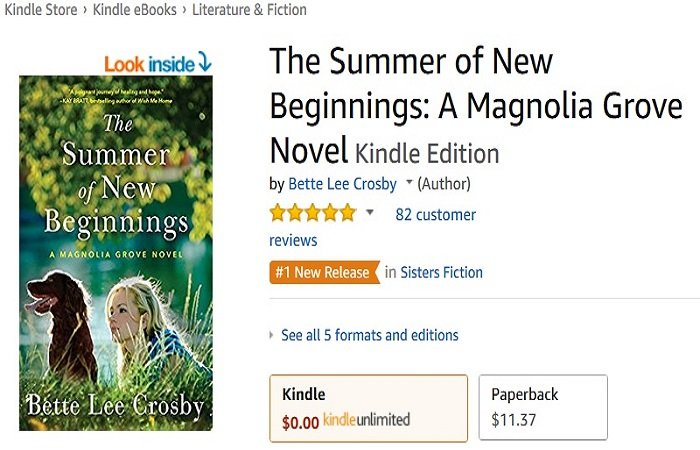 The Summer of New Beginnings by Bette Lee Crosby